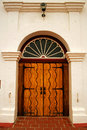 Front door of Mission San Luis Rey Royalty Free Stock Photo