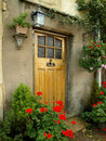 Front Door of an Old Cottage Royalty Free Stock Photo