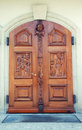 Front door to the catholic church Royalty Free Stock Image
