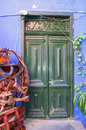 Front door in the village la calera entrance to a colorful artist house of on gomera on gomera is a pretty little Stock Photo