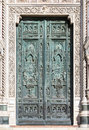 Front doors of Cathedral of Santa Maria del Fiore, Florence - Italy Royalty Free Stock Photo
