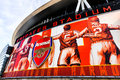 Front of the emirates stadium home of arsenal fc facia football club Stock Image