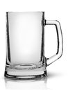 In front empty beer mug Royalty Free Stock Photo