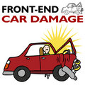 Front End Car Damage Royalty Free Stock Photo