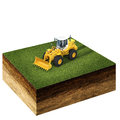 Front end loader on grass Royalty Free Stock Photo