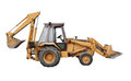 Front end loader isolated on white Royalty Free Stock Photo