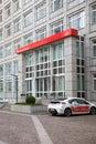 The front entrance to frankfurter office of sparkasse savings banks frankfurt germany jan german finance group Stock Image