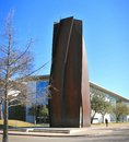 Front entrance to the modern art museum fort worth texas of widely referred as was first granted a charter from state of in as Stock Photos