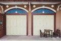 Front Facade Of Classic Sino-Portuguese Building At Ban Singha Tha, Yasothon, Thailand