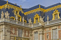 Front facade of Famous palace Versailles Stock Photo