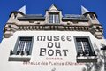 Front facade museum fort musee du fort old quebec city quebec canada Royalty Free Stock Photos