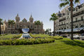 Front of the grand casino in monte carlo of the principality of monaco Royalty Free Stock Images