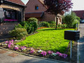 Front house garden Royalty Free Stock Photo