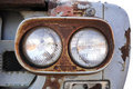 Front light trucks.Truck old rusty steel. Royalty Free Stock Photo