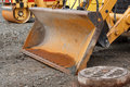 Front loader detail on construction site Royalty Free Stock Photography