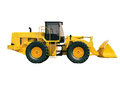 Front loader isolated modern on white background without shadow Royalty Free Stock Images