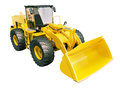 Front loader isolated modern on white background without shadow Stock Images