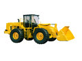 Front loader isolated modern on white background without shadow Royalty Free Stock Image
