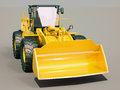 Front loader modern on gray background with shadow Stock Image