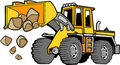 Front loader Vector Royalty Free Stock Photo