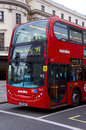 Front of london metroline bus route to trafalgar square Royalty Free Stock Photography