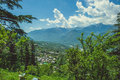 In the front Naggar city Royalty Free Stock Photo