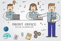 Front office. Thin line icon. Vector.