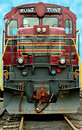 Front of a a old train locomotive Royalty Free Stock Photo
