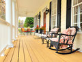 Front Porch of Traditional Home Royalty Free Stock Photo