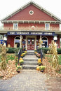 Front porch of Vermont Country Store in Rockingham, VT Royalty Free Stock Photo