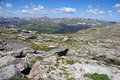 Front range colorado rocky mountains as viewed from mount evans Royalty Free Stock Images