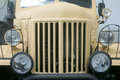 Front of the retro truck. Closeup photo Royalty Free Stock Photo