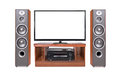 Front shot of home cinema system Royalty Free Stock Photo
