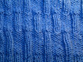 Front side blue knit pattern Royalty Free Stock Image