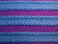 Front side colorful knit pattern Stock Images