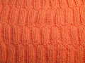 Front side orange knit pattern Royalty Free Stock Photos