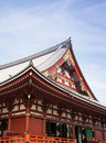 Front of the temple architecture is a in japan Stock Image
