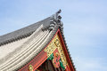 Front of the temple architecture is a in japan Royalty Free Stock Photography
