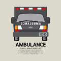 Front view of ambulance vector illustration Royalty Free Stock Photo