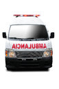 Front view of an ambulante Royalty Free Stock Photo
