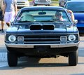 Front view of black s model dodge demon antique car vehicle Royalty Free Stock Photography