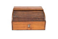 Front View of a Closed Vintage Wooden Cash Register Drawer Royalty Free Stock Photo