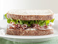 Front view of deili meat sandwich Stock Photo