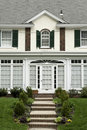 Front view at family house in Philadelphia suburbs Stock Photos