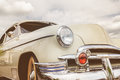 Front view of a fifties American car Royalty Free Stock Photo