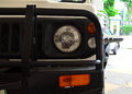Front view of Jeep car headlight Royalty Free Stock Photo