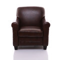 Front view of a leather armchair Stock Image