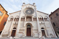 Front view of Modena Cathedral, Italy Stock Images