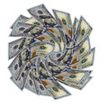 Front view new usa one hundred of the latest dollar bills Royalty Free Stock Photography