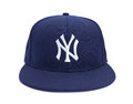 Front View of New York Yankees Ball Cap Stock Photo